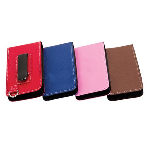 Leather Case for Iphone and Samsung with Money Belt Clip and Key Chain