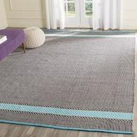 Safavieh Hand-Woven Montauk Turquoise/ Multi Cotton Rug (4' x 6')