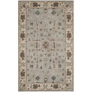 Safavieh Handmade Heritage Timeless Traditional Green/ Beige Wool Rug (3' x 5')
