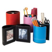 Leather Pen Holder with Picture Frame