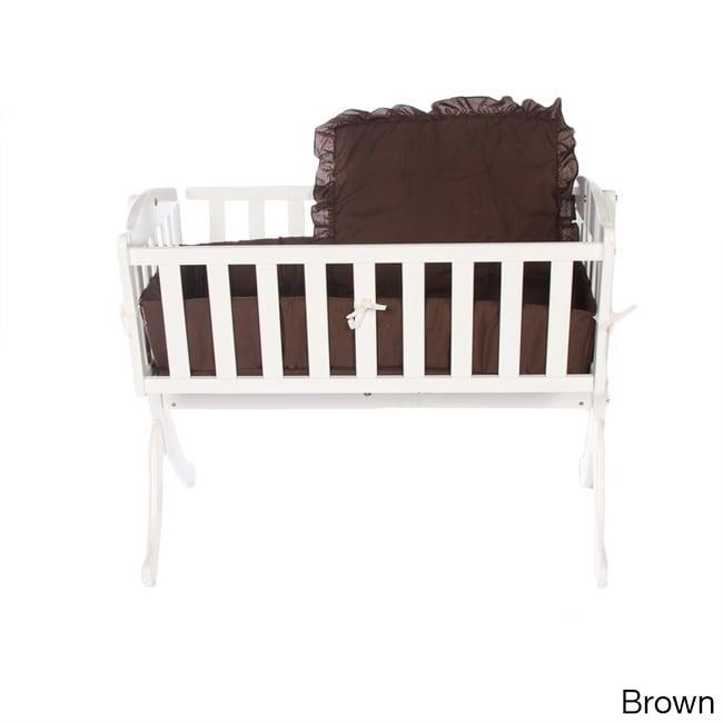 Bumper Solid Color Cradle Bedding (Brown)