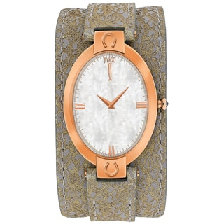 Jivago Women's JV1832 Good luck Oval Light Brown Leather Strap Watch