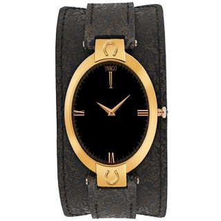Jivago Women's JV1834 Good luck Oval Brown Leather Strap Watch