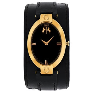 Jivago Women's JV1835 Good luck Oval Black Leather Strap Watch