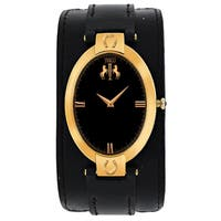 Jivago Women's JV1835 Good luck Oval Black Leather Strap Watch