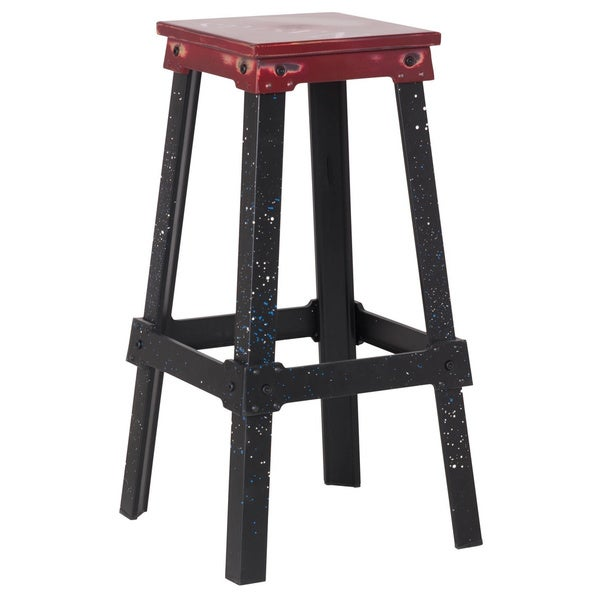 Shop Adeco 30 Inch Metal Bar Stools Free Shipping Today