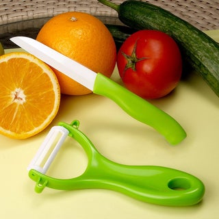 Ceramic Knife and Peeler Set with Non-slip Handles