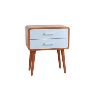 Porthos Home Emorie Double-Drawer Mid-Century End Table