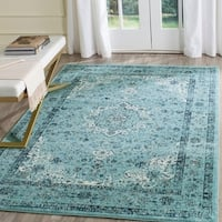 Safavieh Evoke Vintage Oriental Light and Dark Blue Distressed Rug - 6'7 x 9'