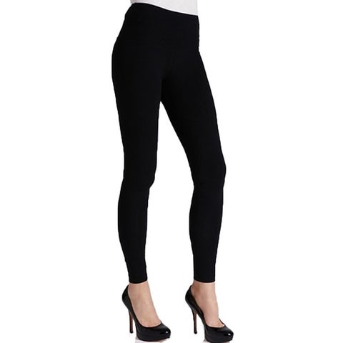 Women's Solid Black Cotton Legging
