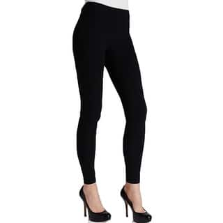 Women's Solid Black Cotton Legging|https://ak1.ostkcdn.com/images/products/11040719/P18053989.jpg?impolicy=medium