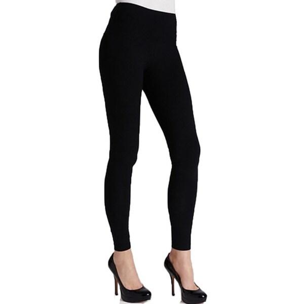 Women's Solid Black Cotton Legging
