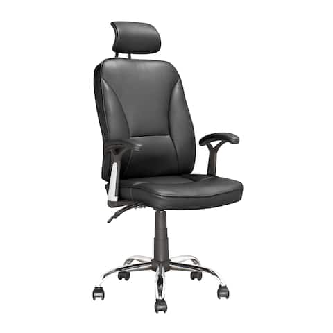 Executive Reclining Office Chair in Black Leatherette