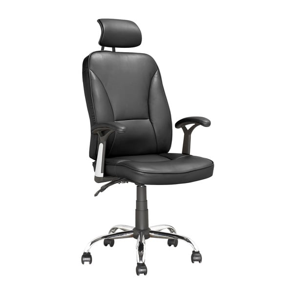 Corliving black leatherette executive tilting office chair