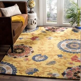 Safavieh Handmade Blossom Gold/ Multi Wool Rug (4' x 6')