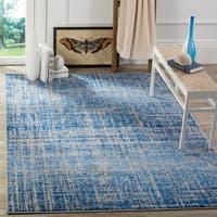 Safavieh Adirondack Modern Abstract Blue/ Silver Rug - 4' x 6'