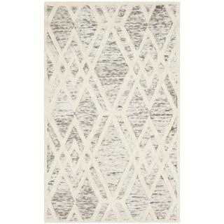 Safavieh Handmade Cambridge Modern Light Brown/ Ivory Wool Rug (3' x 5')