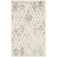 Safavieh Handmade Cambridge Modern Light Brown/ Ivory Wool Rug - 3' x 5'