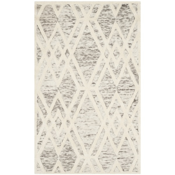 Safavieh Handmade Cambridge Modern Light Taupe/ Ivory Wool Rug - 3' x 5'