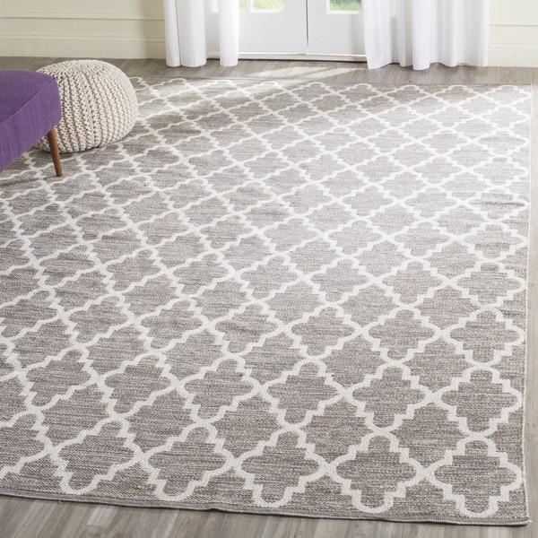 Safavieh Hand-Woven Montauk Grey/ Ivory Cotton Rug (5' x 7')