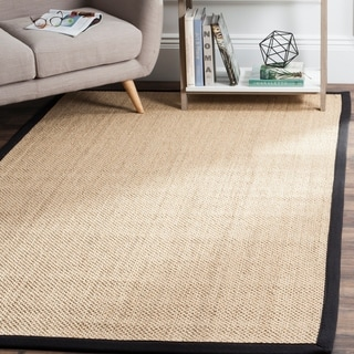 Safavieh Casual Natural Fiber Natural Maize/ Black Sisal Area Rug (5' x 8')