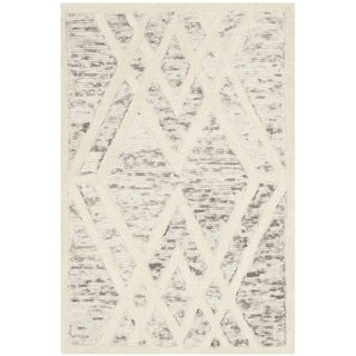 Safavieh Handmade Cambridge Modern Light Brown/ Ivory Wool Rug (2' x 3')