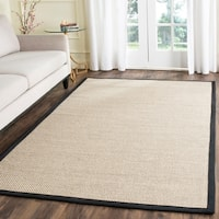 Safavieh Natural Fiber Pacific Marble/ Black Sisal Rug - 6' x 9'