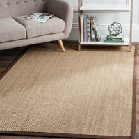 Safavieh Casual Natural Fiber Natural Maize/ Brown Sisal Area Rug - 6' x 9'