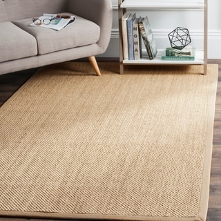 Safavieh Casual Natural Fiber Natural Maize/ Ivory Linen Sisal Area Rug (6' x 9')