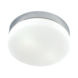 Alico Disc 1 Light Flush mount In Satin Nickel And White Opal Glass - Mini