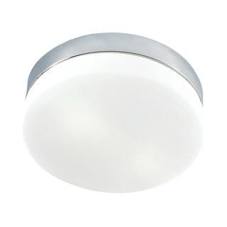 Alico Disc 2 Light Flush mount In Metallic Grey And White Opal Glass - Grande