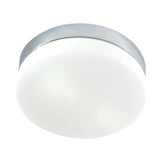 Alico Disc 2 Light Flush mount In Metallic Grey And White Opal Glass - Grande