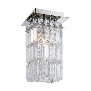 Alico King 1 Light Flush mount In Chrome And Clear Crystal Glass