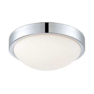 Alico Sydney Flush mount In Chrome And White Opal Glass