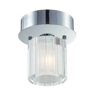 Alico Tiara 1 Light Flush mount In Chrome And Clear Crystal Glass Glass