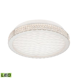 Alico Windsor 18 Watt LED Flush mount In Crystal And Chrome