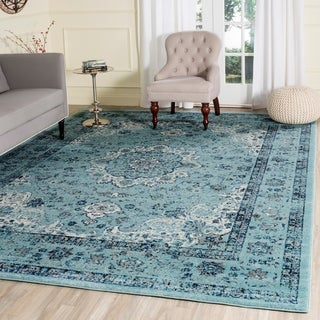 Safavieh Evoke Vintage Oriental Light and Dark Blue Distressed Rug (9' x 12')