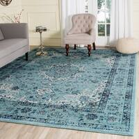 Safavieh Evoke Vintage Oriental Light and Dark Blue Distressed Rug (9' x 12') - 9' x 12'