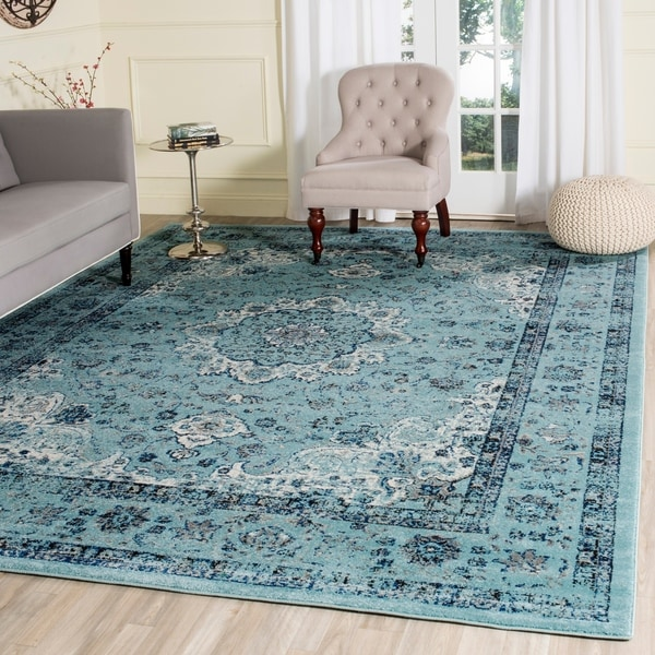 Safavieh Evoke Vintage Oriental Light and Dark Blue Distressed Rug - 9' x 12'
