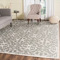 Safavieh Handmade Cedar Brook Natural/ Grey Jute Rug - 8' x 10'