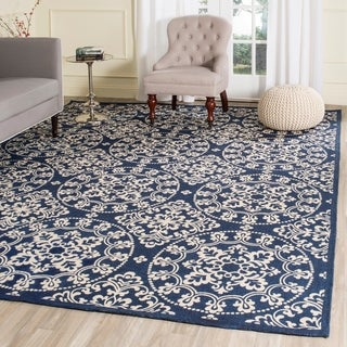 Safavieh Handmade Cedar Brook Navy/ Natural Jute Rug (8' x 10')