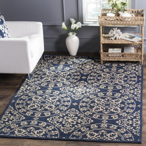 Safavieh Handmade Cedar Brook Navy/ Natural Jute Rug - 8' x 10'