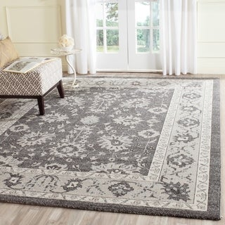 Safavieh Carmel Vintage Dark Grey/ Beige Distressed Rug (8' x 10')