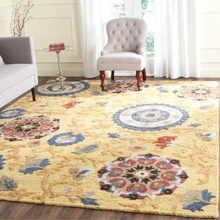 Safavieh Handmade Blossom Gold/ Multi Wool Rug (8' x 10')