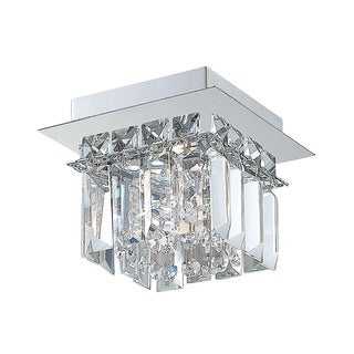 Alico Crown 1 Light Flush mount In Chrome And Clear Crystal Glass