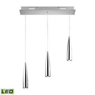 Alico Century 3 Light LED Pendant In Chrome