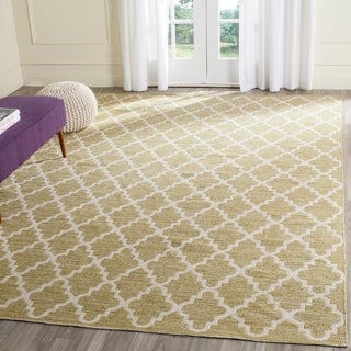 Safavieh Hand-Woven Montauk Grey/ Ivory Cotton Rug (8' x 10')