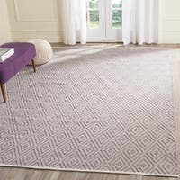 Safavieh Hand-Woven Montauk Grey/ Ivory Cotton Rug - 8' x 10'