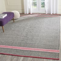 Safavieh Hand-Woven Montauk Light Pink/ Multi Cotton Rug - 8' x 10'