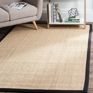 Safavieh Casual Natural Fiber Handmade Maize / Black Sisal Rug (9' x 12')